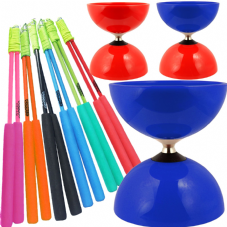 Juggle Dream Big Top Bearing Diabolo & Juggle Dream Superglass Handsticks